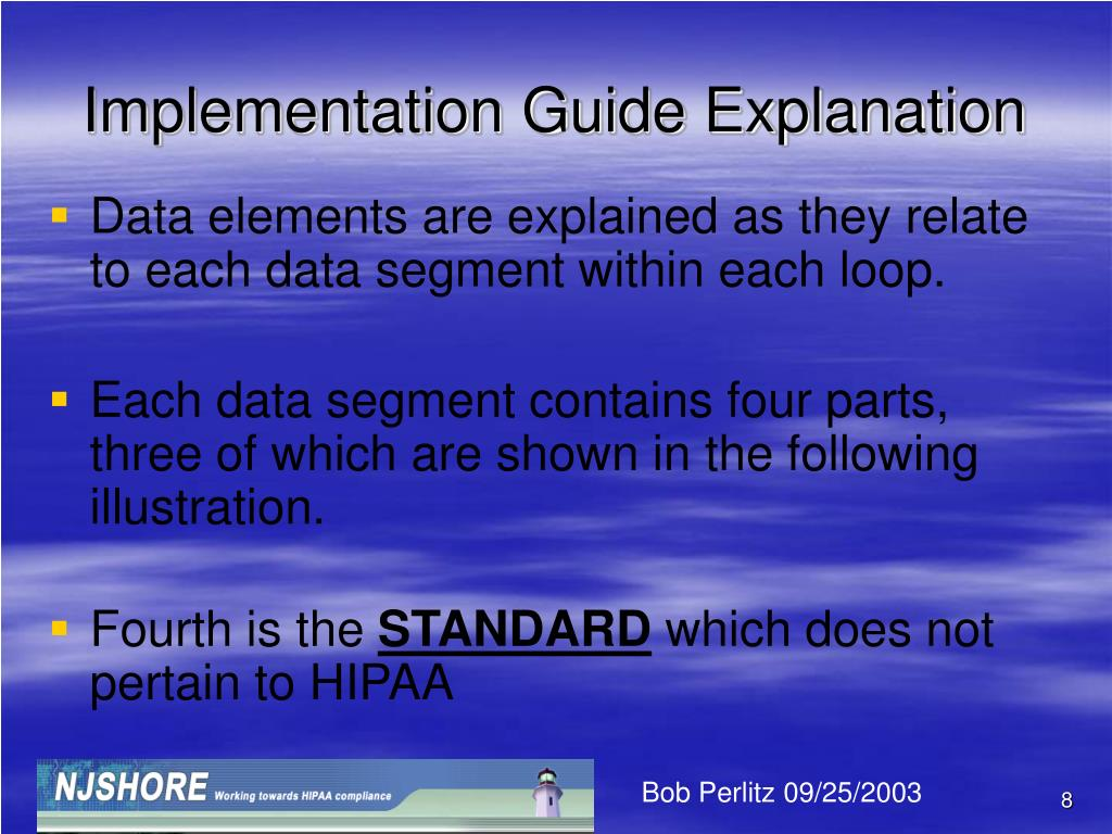 Implementation Guide Explanation