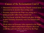 causes of the reformation cont d