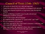 council of trent 1546 1563