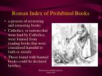 roman index of prohibited books