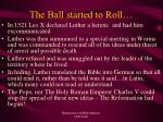 the ball started to roll