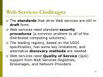 web services challenges