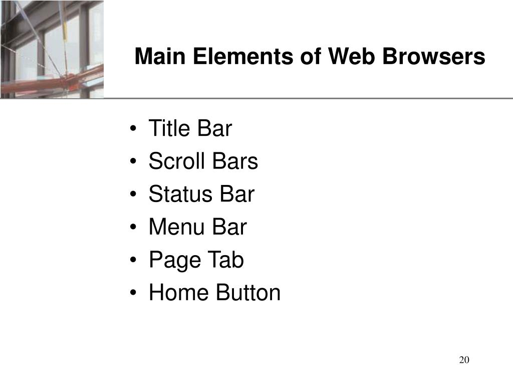 Main Elements of Web Browsers