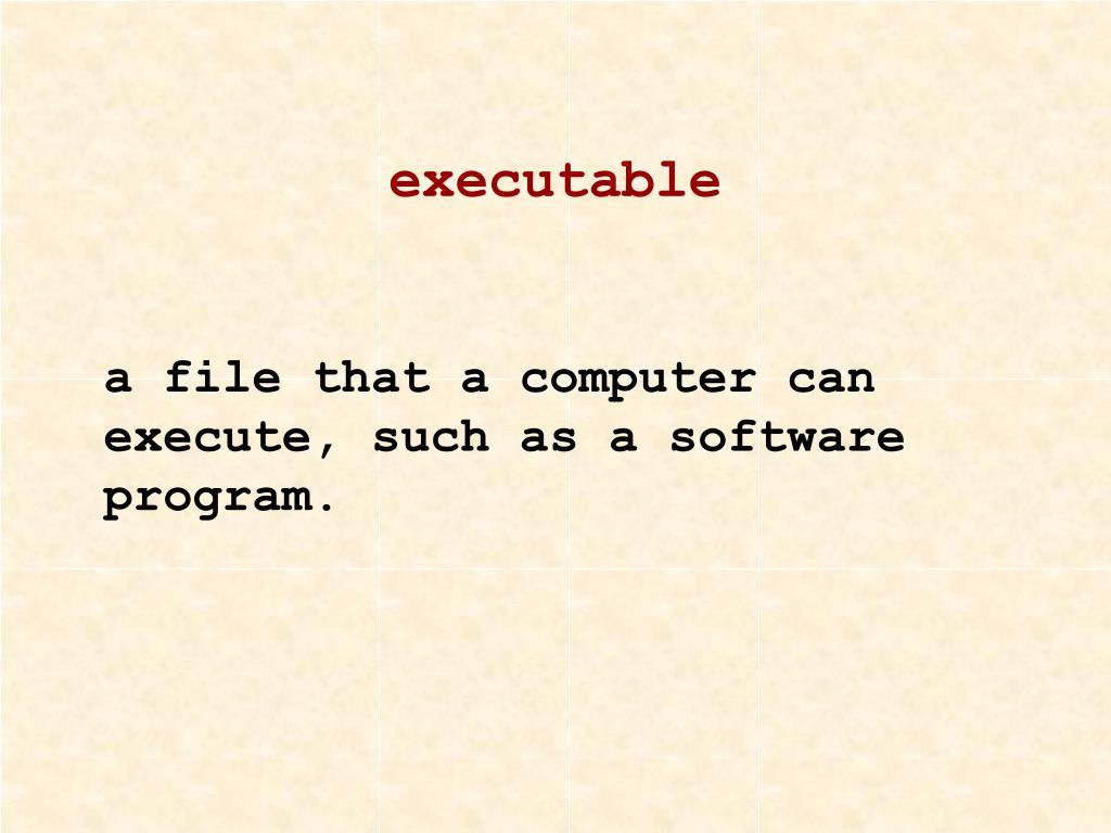 executable