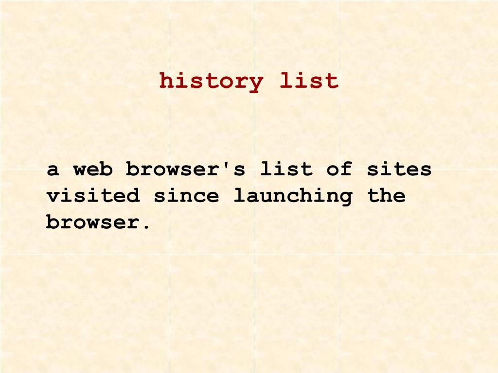 history list