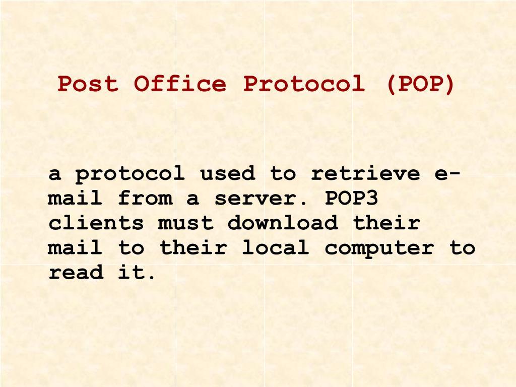 Post Office Protocol (POP)
