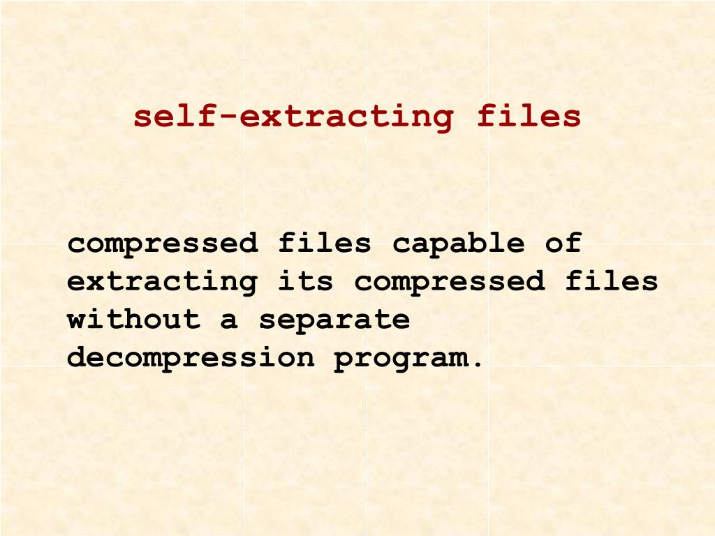 self-extracting files