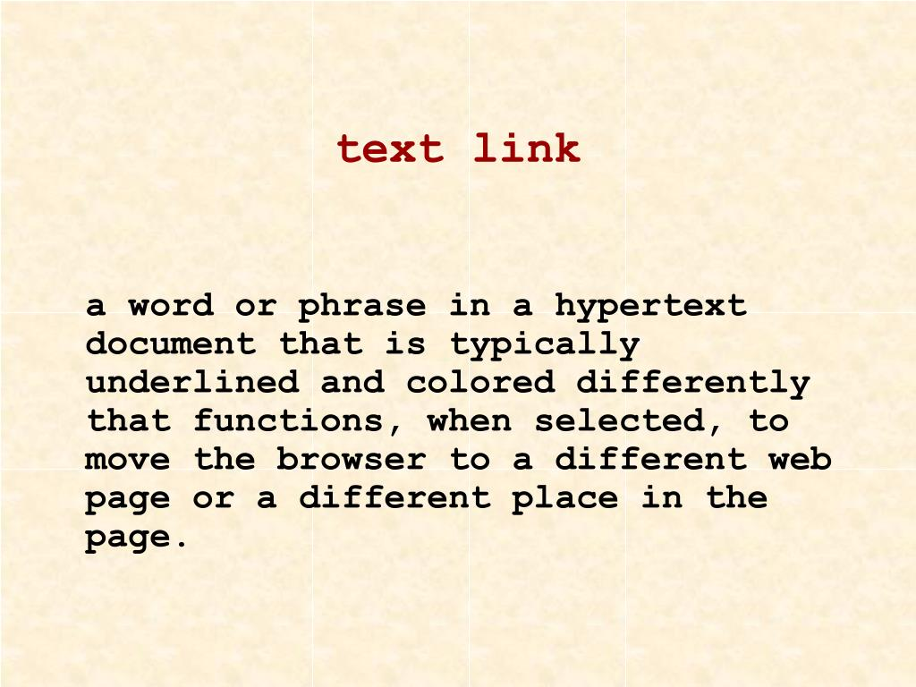 text link