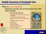 health concerns of computer use54