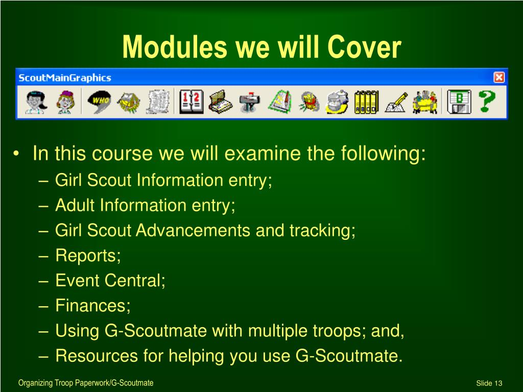 Modules we will Cover