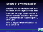 effects of synchronization