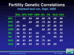 fertility genetic correlations interbull test run sept 2006