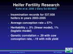 heifer fertility research kuhn et al 2006 j dairy sci 89 4907
