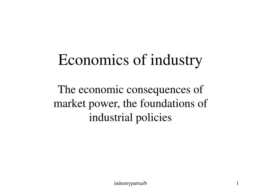 economics of industry l.