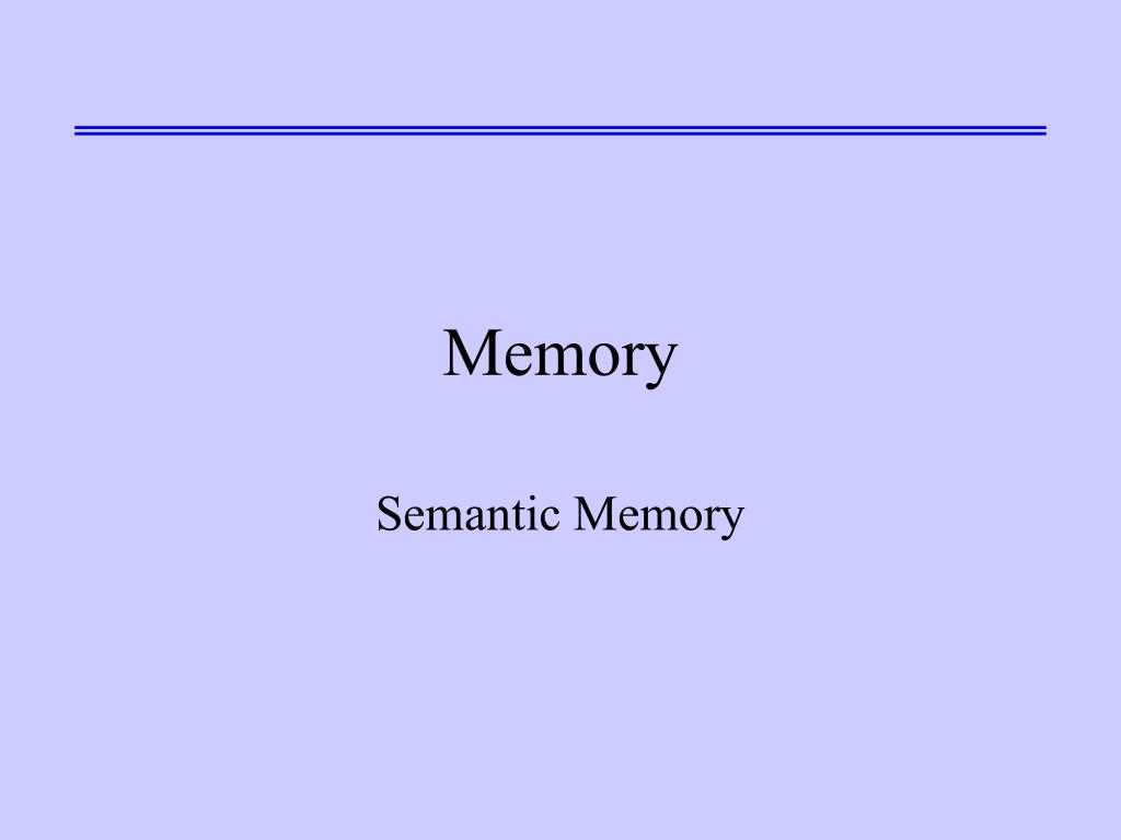 memory l.