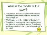 what is the middle of the story