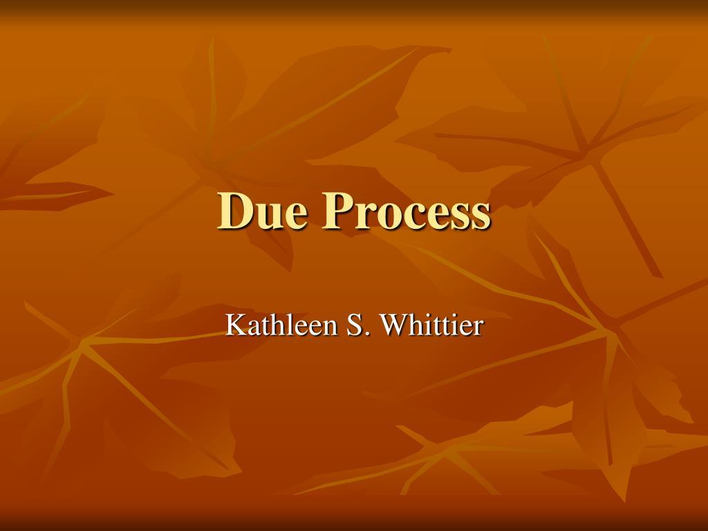 due process l.