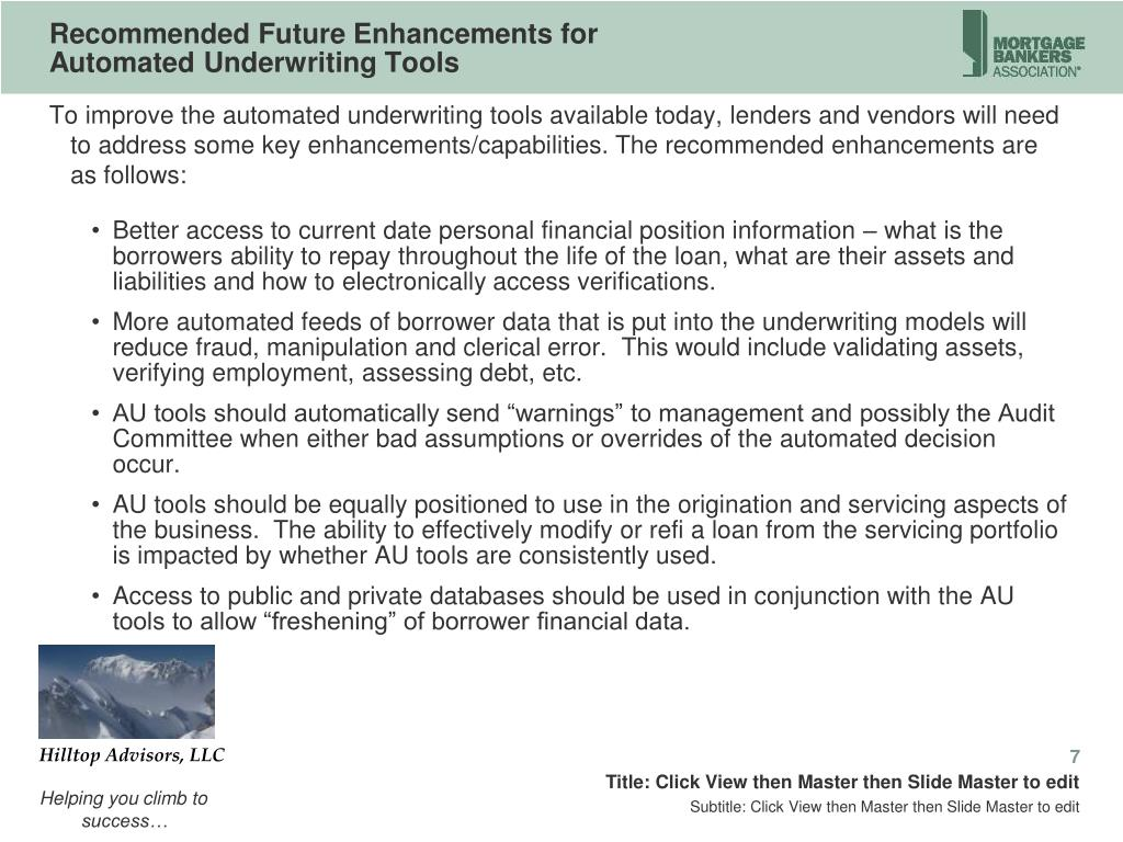 Recommended Future Enhancements for