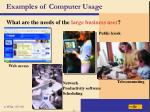 examples of computer usage41