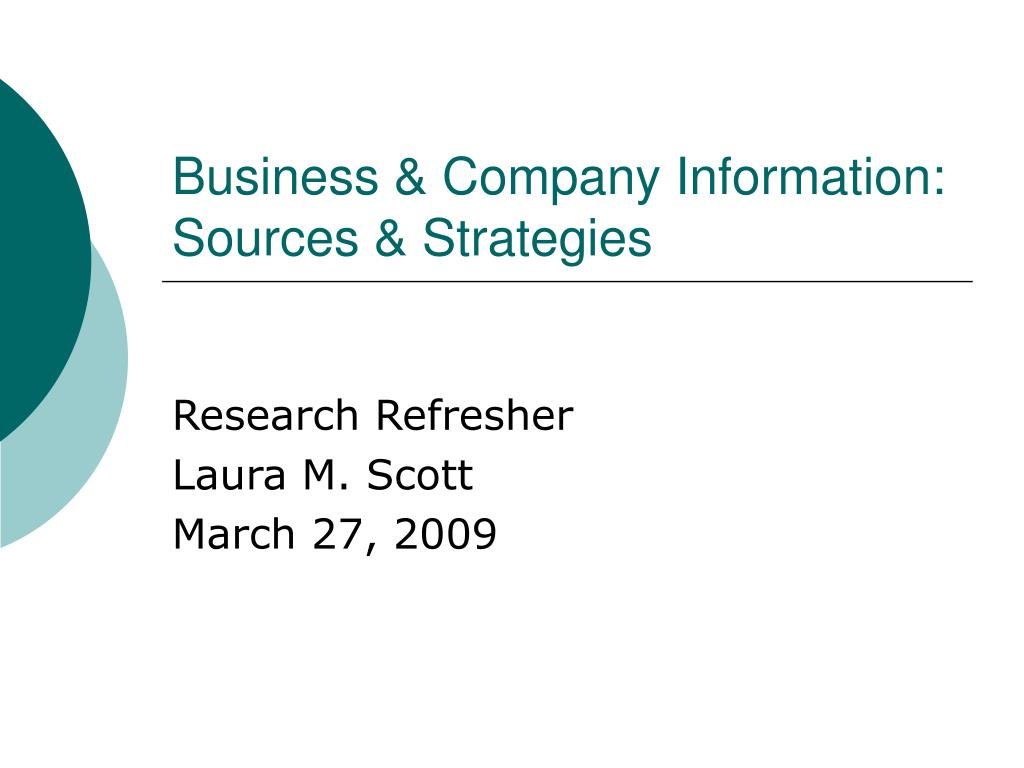 business company information sources strategies l.