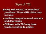 signs of tbi20