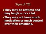 signs of tbi21