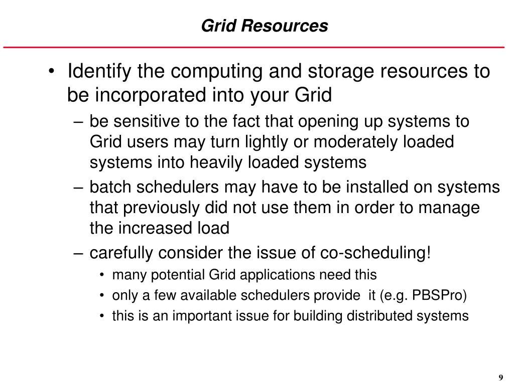 Grid Resources
