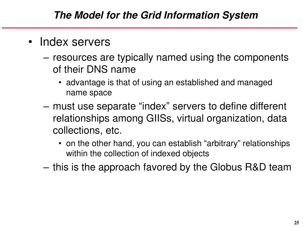 The Model for the Grid Information System