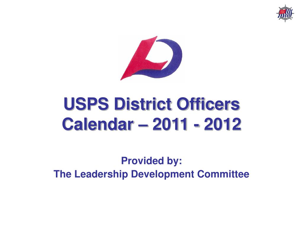usps district officers calendar 2011 2012 l.
