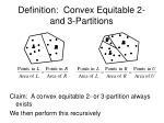 definition convex equitable 2 and 3 partitions