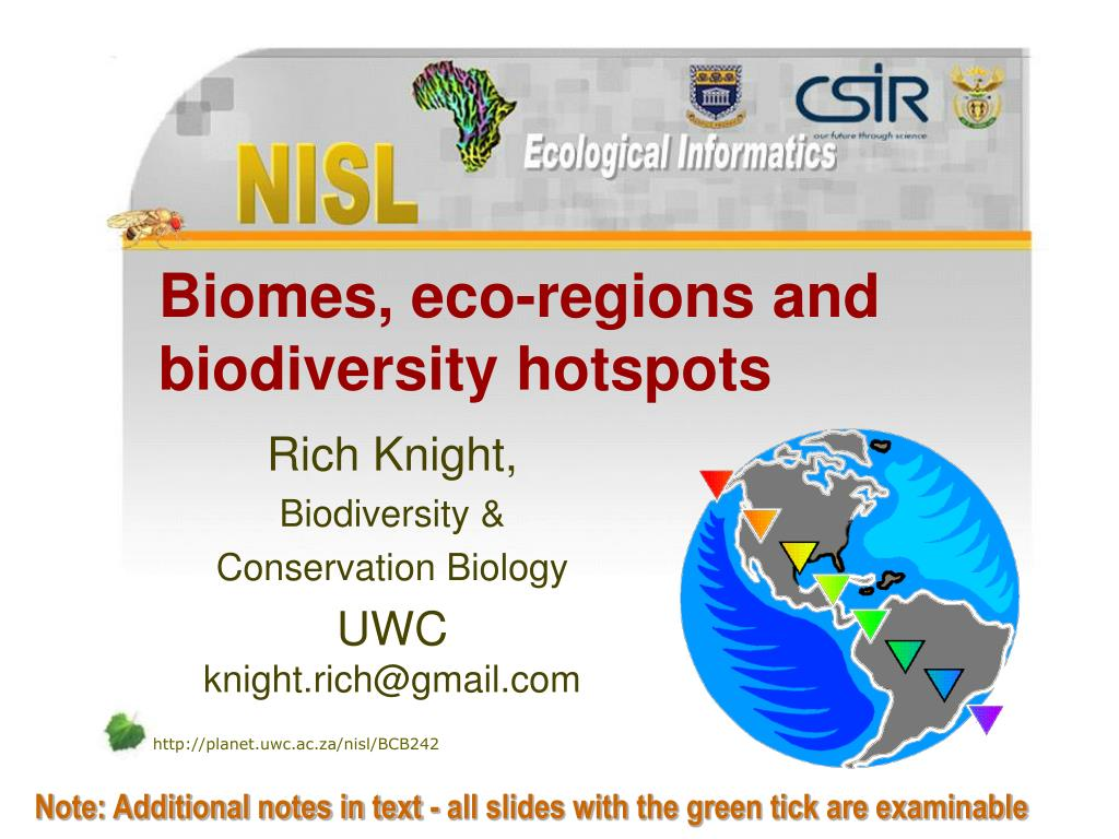 biomes eco regions and biodiversity hotspots l.