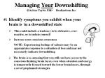 managing your downshifting arlene taylor phd realizations inc