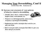 managing your downshifting cont d arlene taylor phd realizations inc20