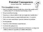 potential consequences arlene taylor phd realizations inc