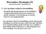 preventive strategies 3 arlene taylor phd realizations inc