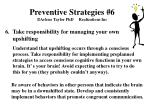 preventive strategies 6 arlene taylor phd realizations inc