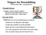 triggers for downshifting arlene taylor phd realizations inc12