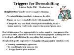 triggers for downshifting arlene taylor phd realizations inc13