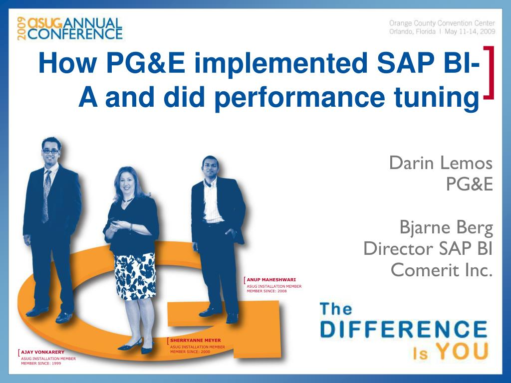 how pg e implemented sap bi a and did performance tuning l.