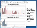pg e query performance improvments overall