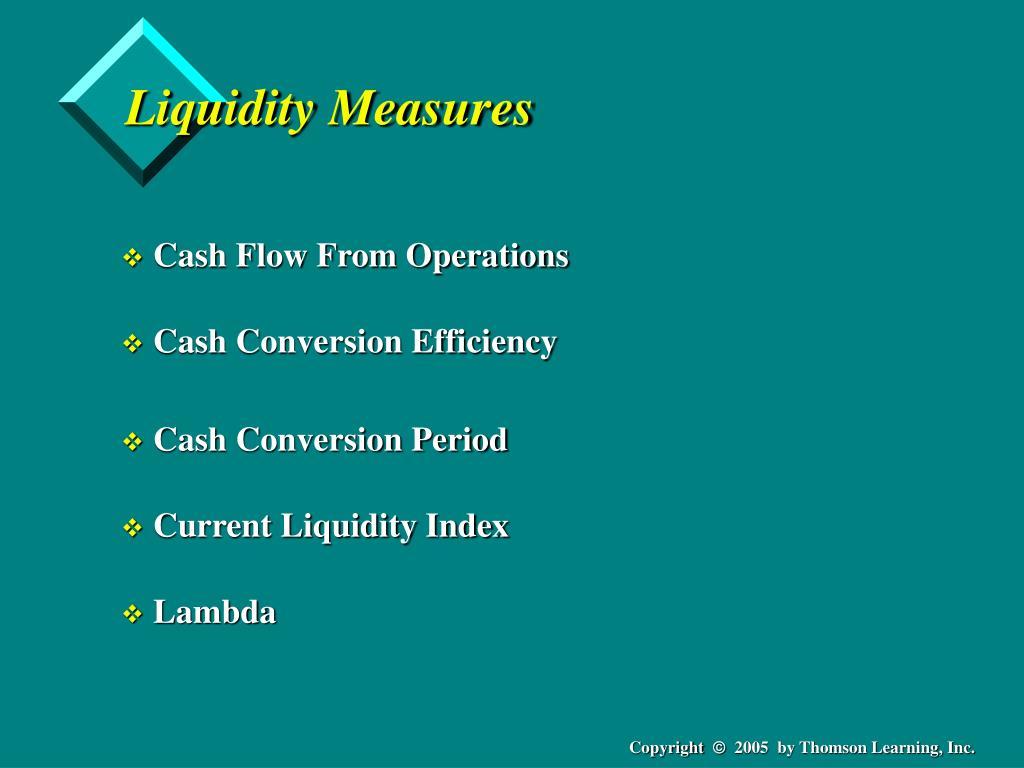 Liquidity Measures