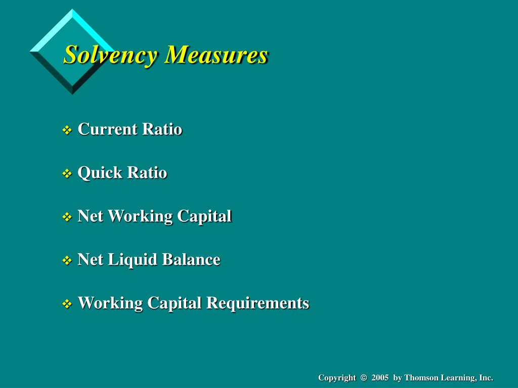 Solvency Measures