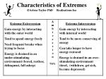 characteristics of extremes arlene taylor phd realizations inc