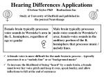 hearing differences applications arlene taylor phd realizations inc