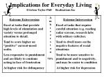 implications for everyday living arlene taylor phd realizations inc