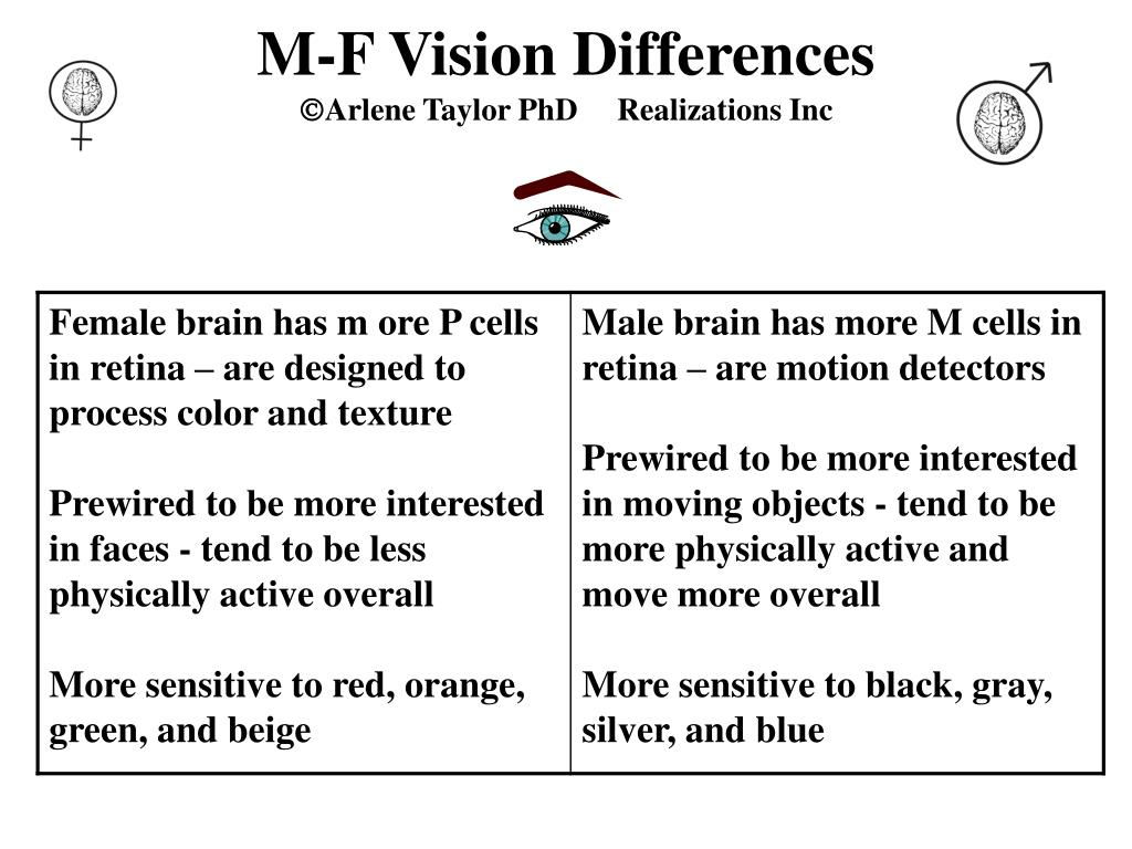 M-F Vision Differences