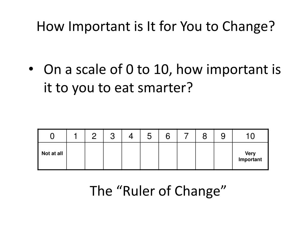 How Important is It for You to Change?