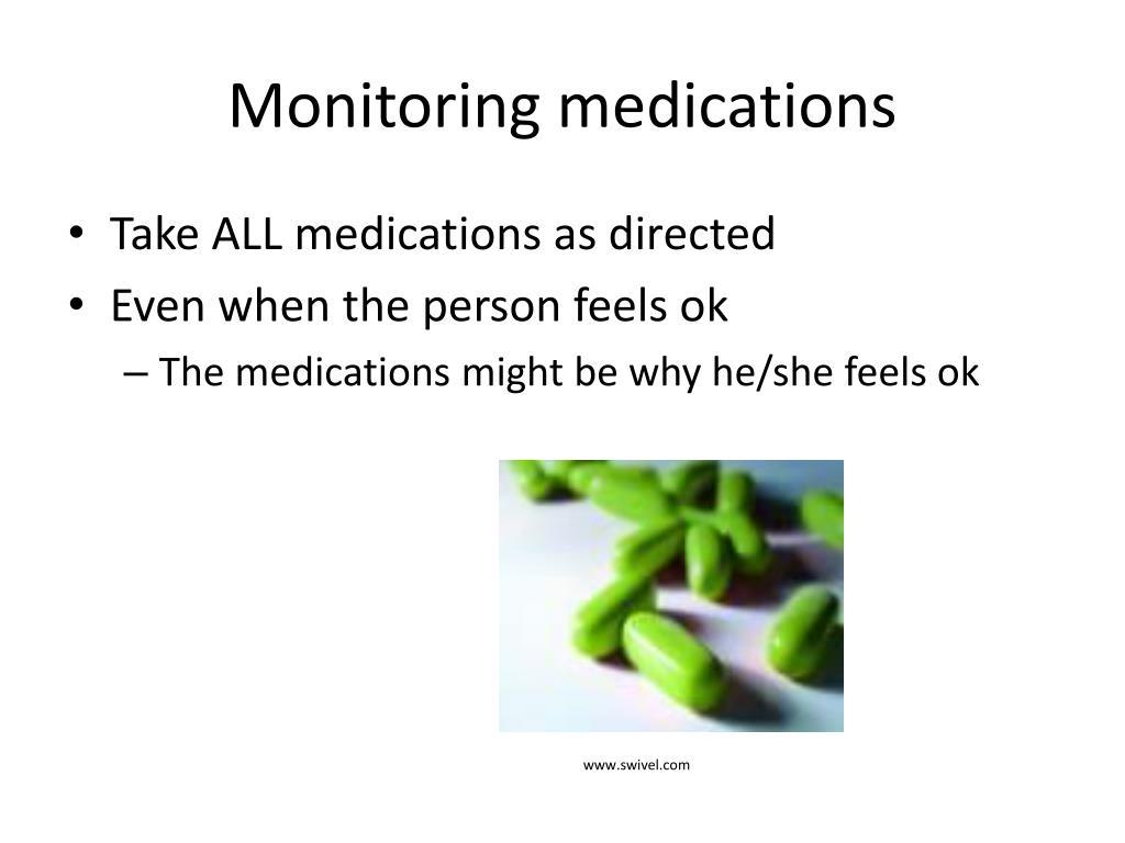 Monitoring medications