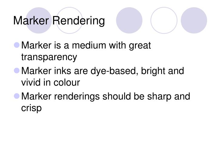 Marker rendering