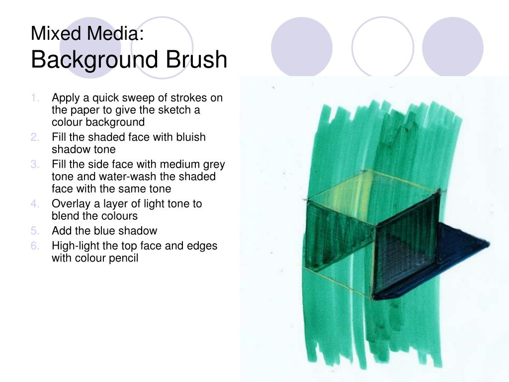 Apply a quick sweep of strokes on the paper to give the sketch a colour background